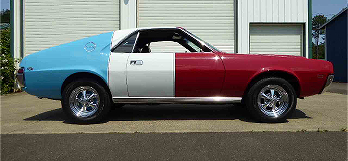 Is it just us or does this AMC kind of look like a Bomb Pop? | ClassicCars.com photo
