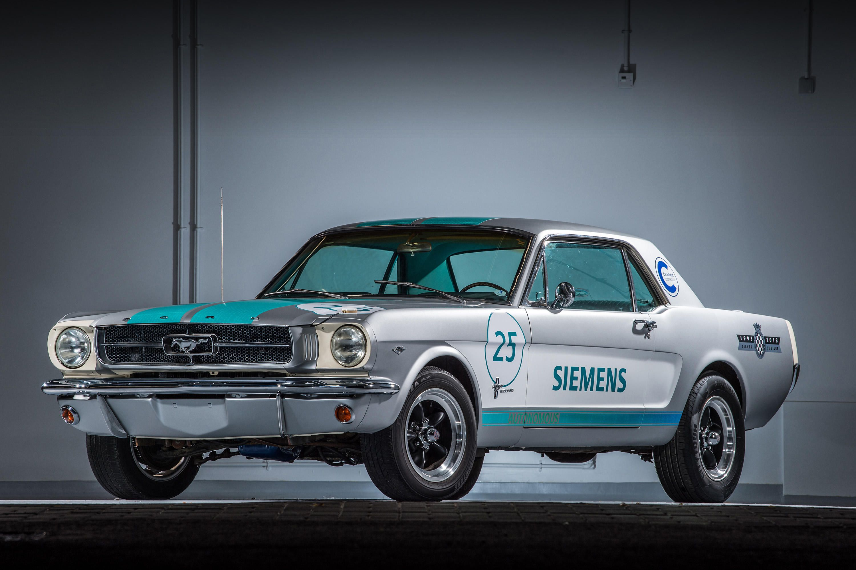 This self-driving Ford Mustang will attempt the hill climb at the Goodwood Festival of Speed. | Siemens photo