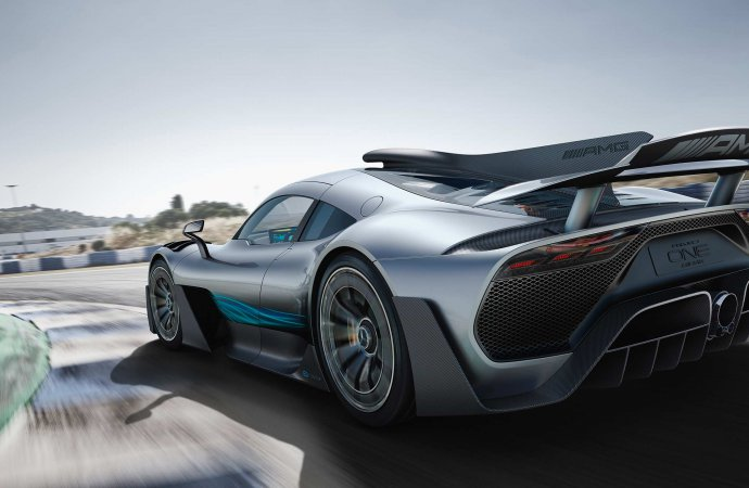 AMG hasn't released full details but we know the Project One will have over 1,000 horsepower from a 1.6-liter turbocharged V-6 and four electric motors. | Mercedes-Benz photo