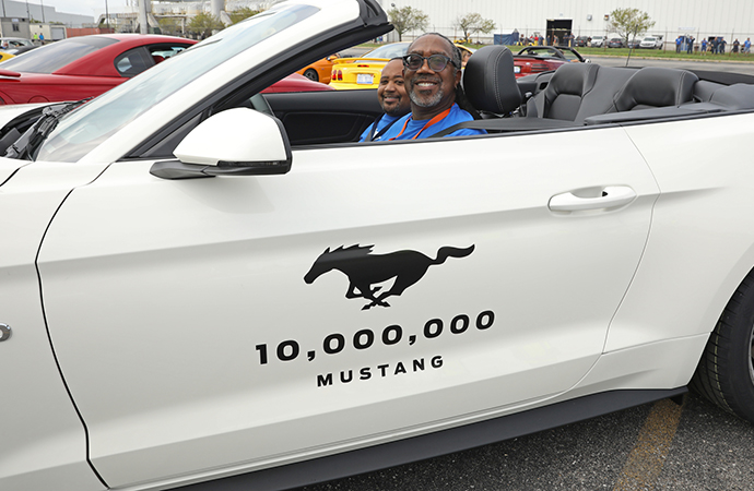 Mustang milestone: 10 millionth 'Stang gallops off assembly line