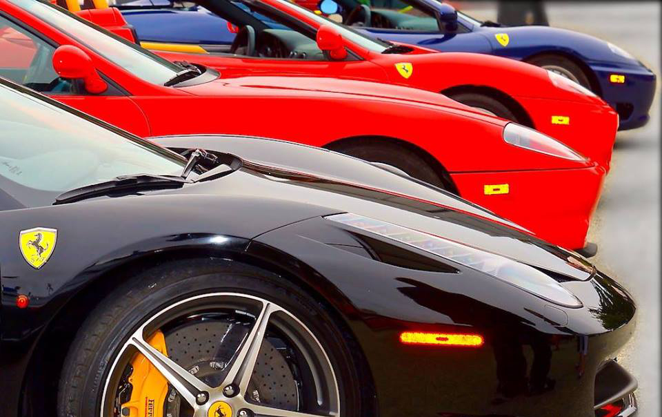 Numerous iterations of Ferrari will be parked at the Barnyard Shopping Village. | Facebook photo