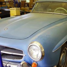 Grandmother's 190 SL needs restoration