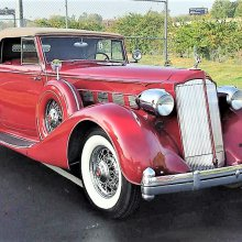 Concours candidate 1936 Packard Super Eight convertible coupe