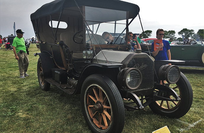 Unrestored 1909 Peerless was a crowd pleaser. | William Hall photo