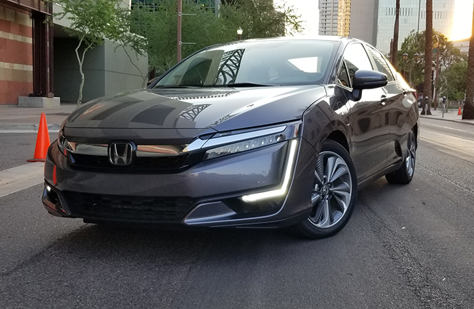 The 2018 Honda Clarity Plug-In Hybrid is made for sipping gas while touring but lacks an engaging driving experience. | Carter Nacke photo