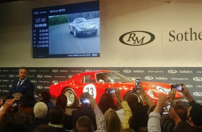 Ferrari GTO sells for world record $48.4 million at Monterey auction