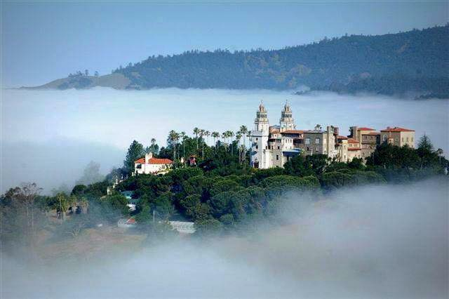 Hearst Castle sits above the a layer of fog. | Facebook photo