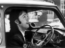 McCartney sits behind the wheel of his Cooper, perhaps after driving past some strawberry fields. | Worldwide Auctioneers photo