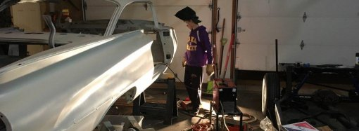 What did you do this summer? This teenager is restoring a 1960 Buick