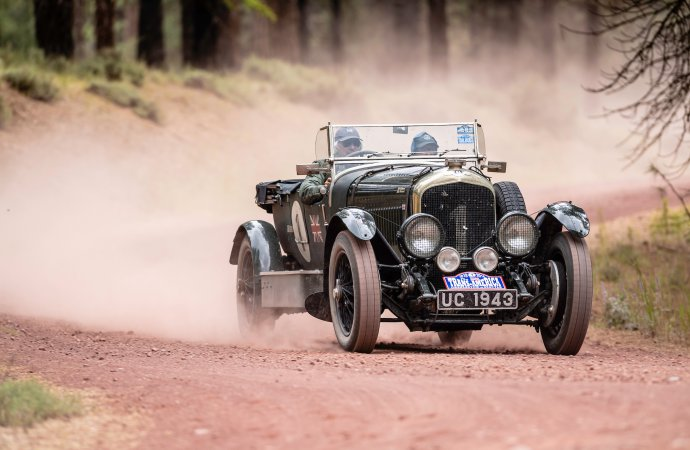 """Where we're going, we don't need roads."" The Bentley looks to have performed well in dirt. 