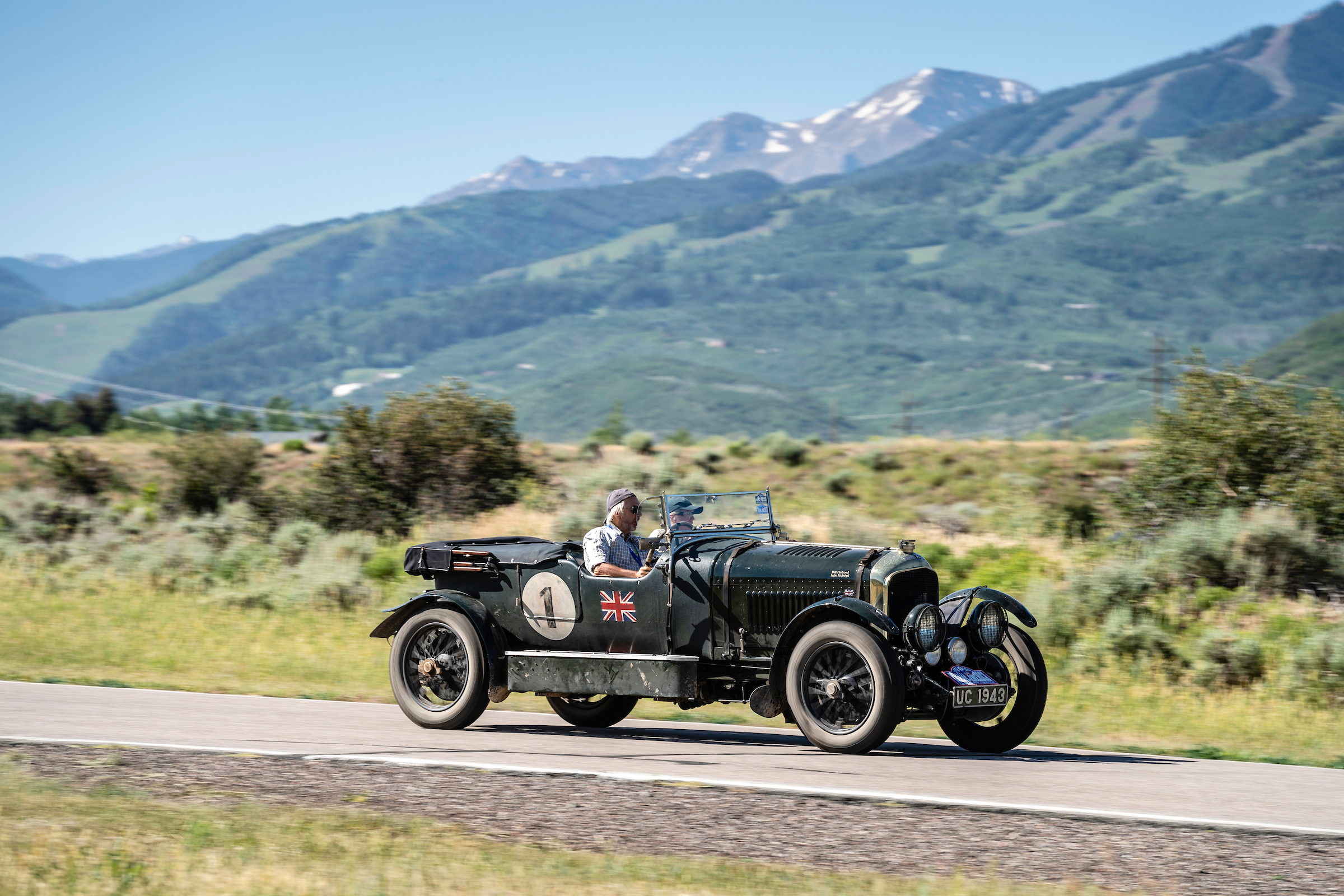 A British couple successfully drove this 1927 Bentley 4 1/2 across the United States.   Gerard Brown photo
