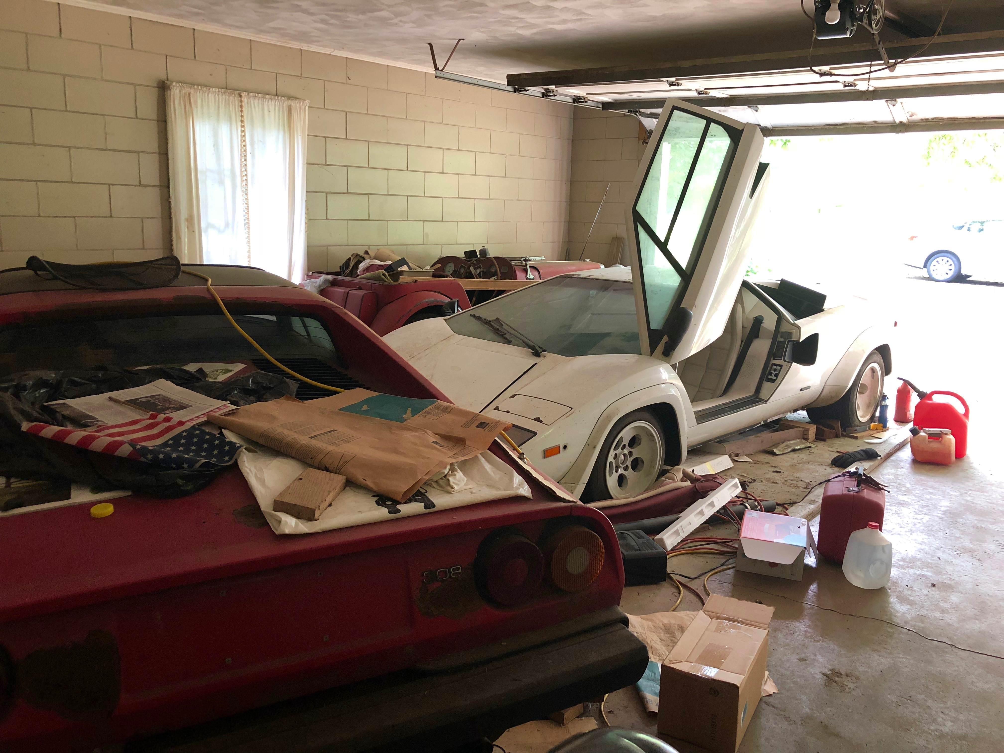 Neglected Lamborghini Countach Gathering Dust In Grandma S Garage