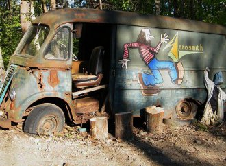 Aerosmith's original '64 touring van found in East Coast woods