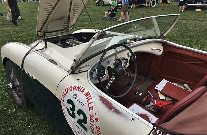 Well-worn 1955 Austin-Healey 100M had lots of charm. | William Hall photo