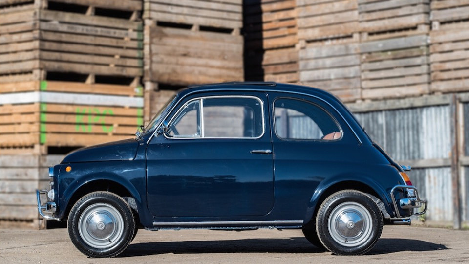 Warning: The Fiat 500 may have you thinking of holiday plans in no time. | Russo and Steele photo