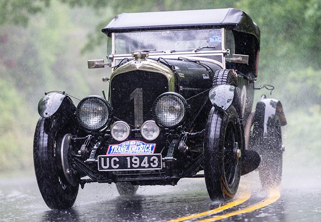 A British couple successfully drove this 1927 Bentley 4 1/2 across the United States. | Gerard Brown photo