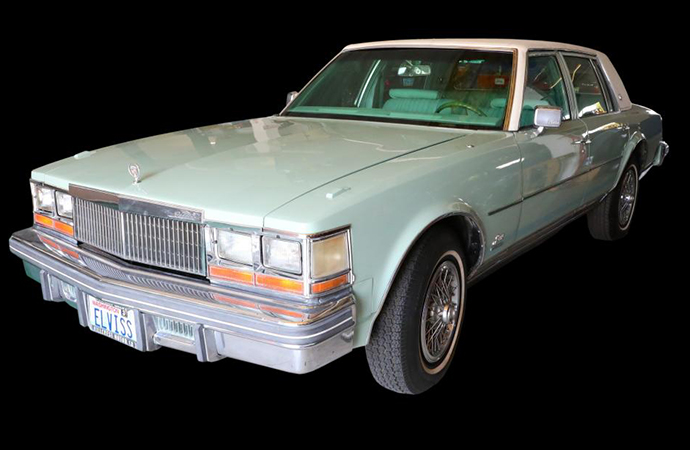 This 1977 Sea-Mist Green Cadillac Seville was purchased by Elvis Presley for a person he just met that day. It's likely the last he bought before he died. | GSW Auctions photo