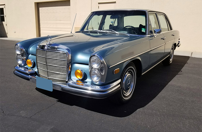 This 1971 Mercedes-Benz 280SEL was owned by Elvis Presley until his death in 1977. | Barrett-Jackson photo