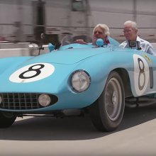 Ferrari 500 Mondial hits Leno's garage before Pebble Beach sale