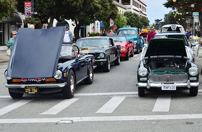 Cars of various make took over Pacific Grove last year. | Classic Motorsports Show photo