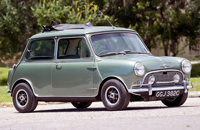 Love Me Do: This Mini Cooper that once belonged to Paul McCartney will be on the auction block next month. | Worldwide Auctioneers photo