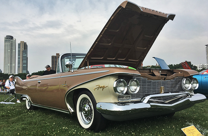 1960 Plymouth Sport Fury reaches for the sky on Milwaukee's lakefront. | William Hall photo
