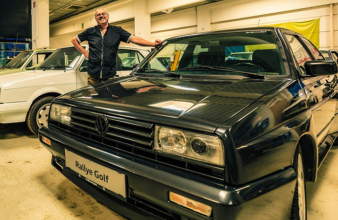 Josef Juza owns 114 examples of the Volkswagen Golf -- and his collection may keep going. | Volkswagen photo