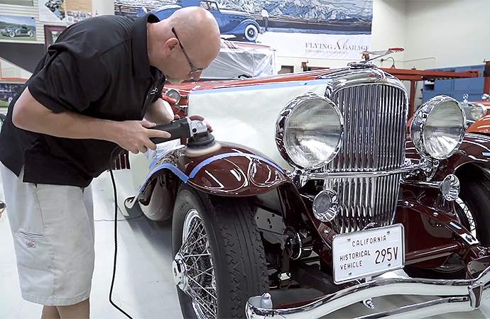 An enormous amount of work goes into getting a car ready to compete at the Pebble Beach Concours d'Elegance. | Screenshot
