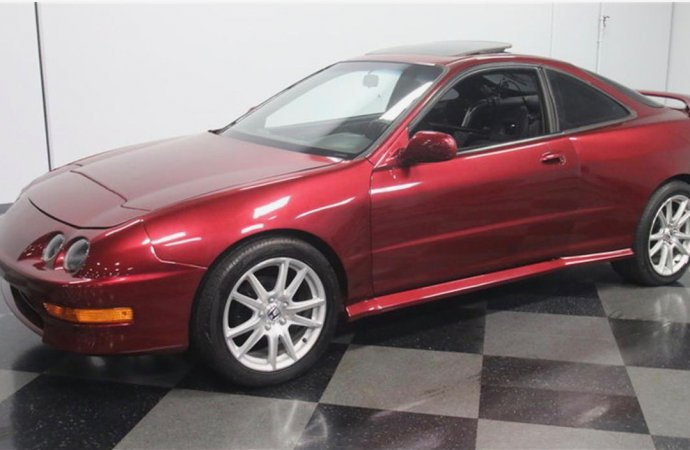 It's a '99 Acura Integra, but with a Cadillac V8