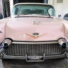 Take a ride on the freeway of love in this pink Cadillac