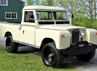 Adventure-ready Land Rover pickup with 'nut-and-bolt' restoration