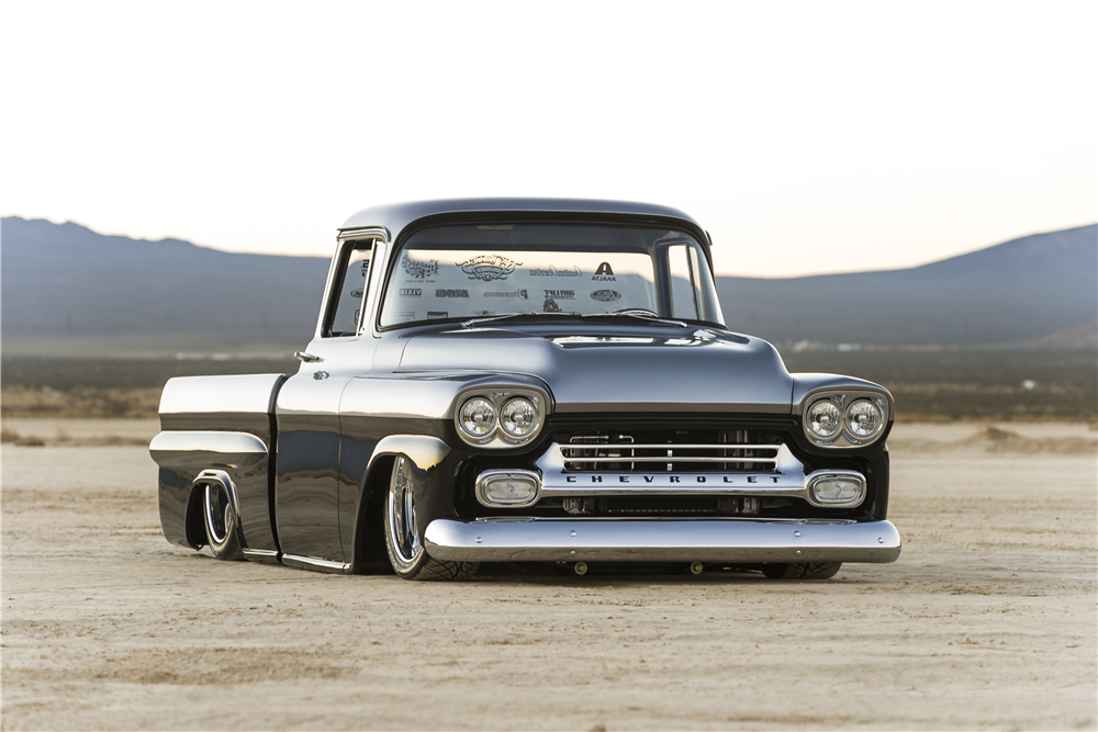 This 1958 Chevrolet Apache will be riding low at Barrett-Jackson's Las Vegas classic car auction. | Barrett-Jackson photo