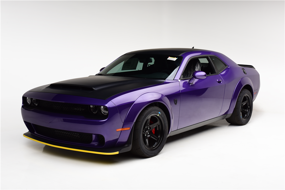 One of 3,330 Dodge Challenger SRT Demons produced will be on the block at Barrett-Jackson's Las Vegas auction. | Barrett-Jackson photo