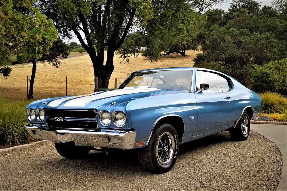 This 1970 Chevrolet Chevelle LS6 was restored with the help of several experts. | Barrett-Jackson photo