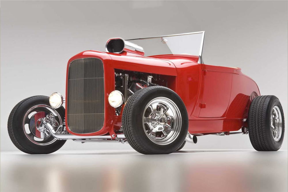Bidders will have a chance to take this custom 1932 Ford Roadster home. | Barrett-Jackson photo
