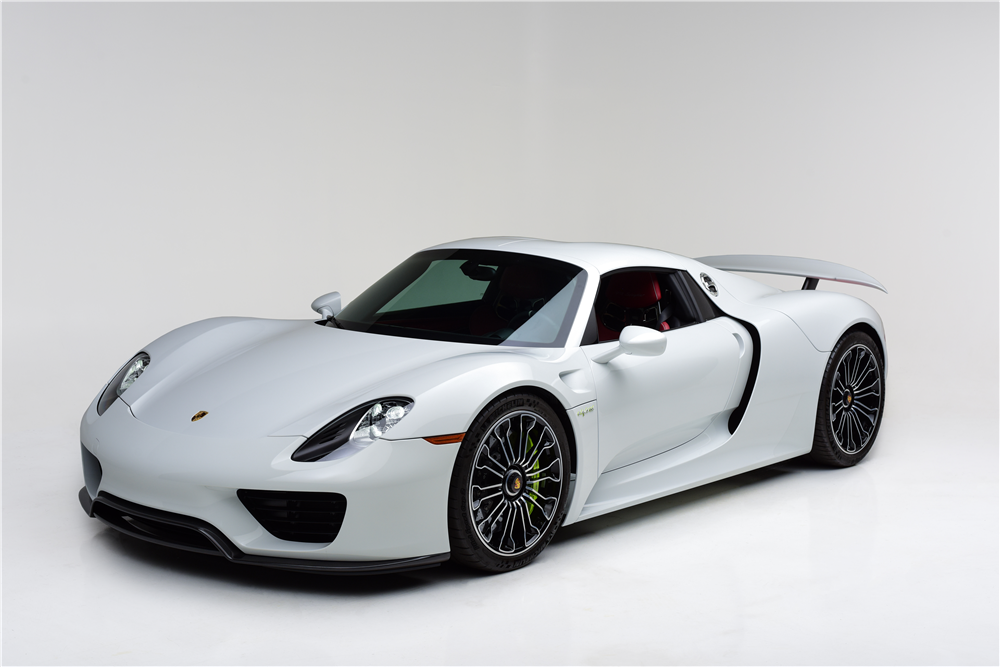 This 2015 Porsche 918 Spyder will be on the Barrett-Jackson block in Las Vegas at the end of the month. | Barrett-Jackson photo