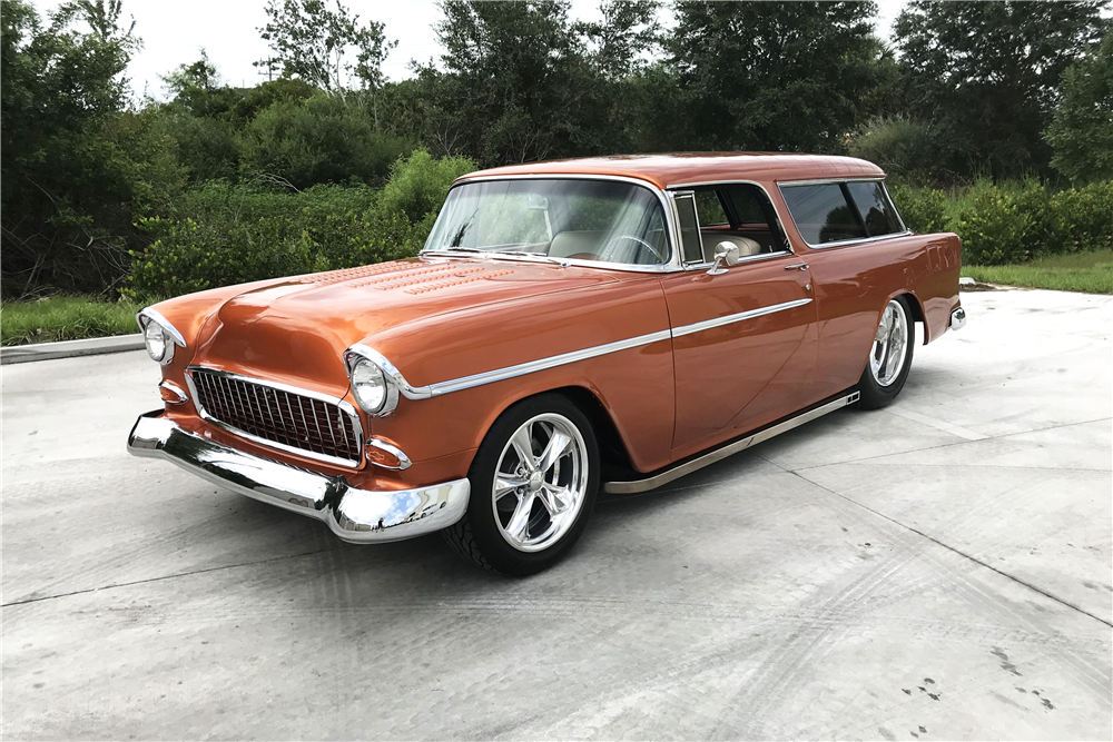 This custom 1955 Chevrolet Bel Air Nomad will be on the block at Barrett-Jackson's Las Vegas collector car auction. | Barrett-Jackson photo