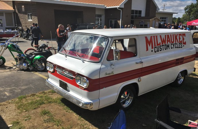 Cab-forward Corvair van makes a wonderful period shop truck. | William Hall photo