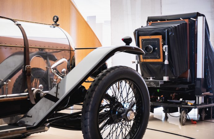 Bentley uses historic Polaroid camera to produce centennial book