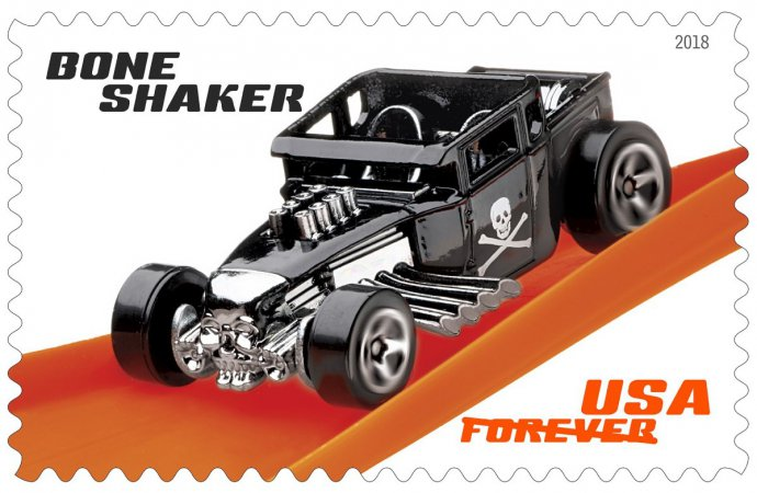 Speedy delivery: Hot Wheels stamps created by Postal Service