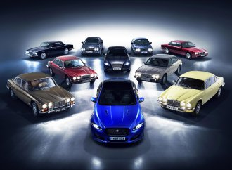 Jaguar XJ convoy heads to Paris
