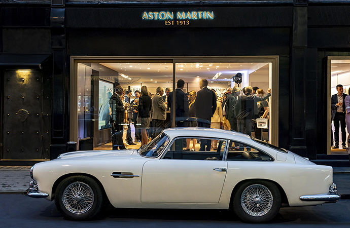 Aston Martin has opened the doors of a specialized classic car showroom in the heart of London. | Aston Martin photo