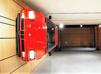 Two wrecked BMW M1 supercars become one piece of wall art
