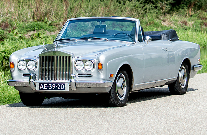 Drive like a champ: This 1970 Rolls-Royce Silver Shadow Mulliner Park Ward convertible formerly owned by late boxing legend Muhammad Ali will be auctioned off by Bonhams at a sale in Belgium in October. | Bonhams photo