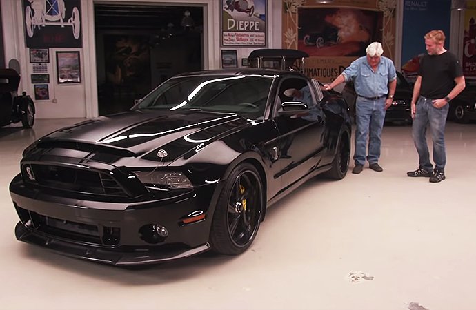 A special2014 Ford ShelbyGT500 Super Snakeroared into Jay Leno's Garage for a new episode. Actor Jim Caviezel is the proud owner, and he's turned the car into a rolling tribute for the fallen members of SEAL Team Six aboard Extortion 17. | Screenshot