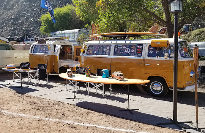 Camping surrounded by Volkswagen glory is the name of the game at the Jerome Jamboree. | Carter Nacke photo