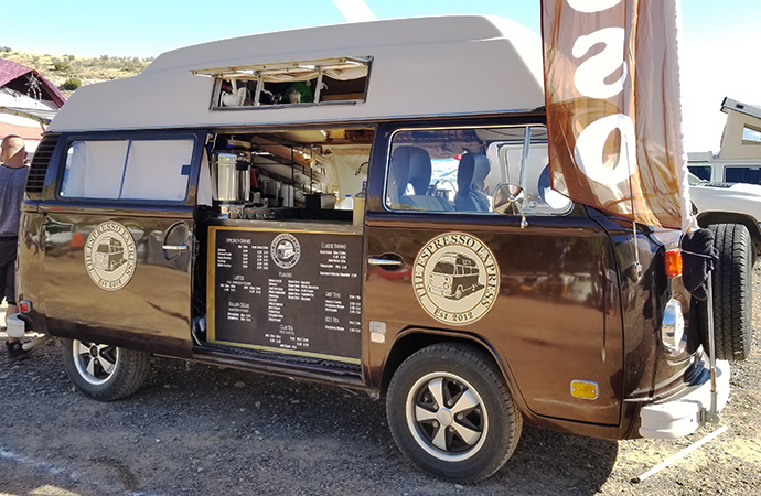 No need to make your own coffee: You can grab a cup out of this VW. | Carter Nacke photo