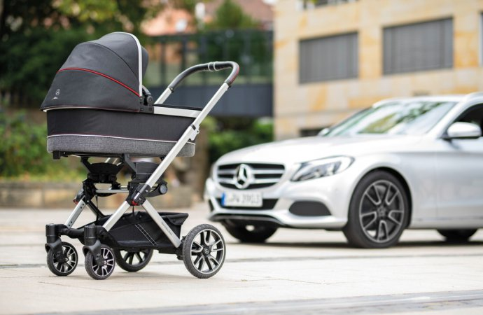 Infants can ride in style in new Mercedes baby buggy