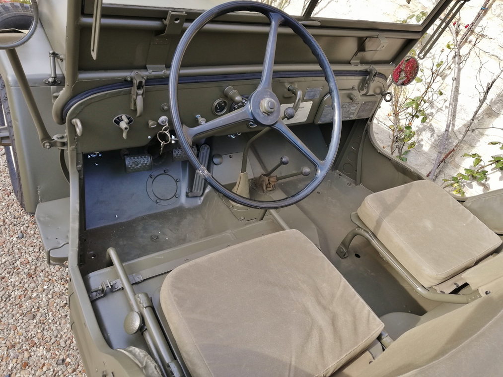 The interior of McQueen's Jeep looks to be in great condition. | Silverstone Auctions photo