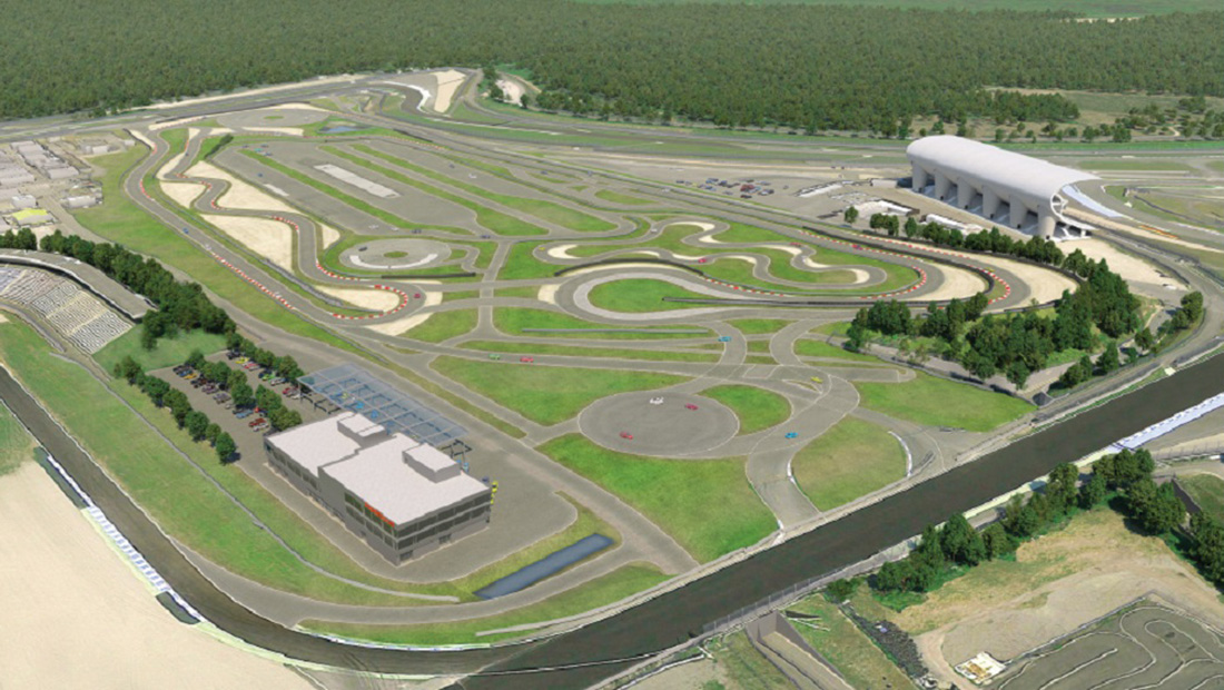 The experience center will have a range of tracks and dynamic areas. | Porsche photo
